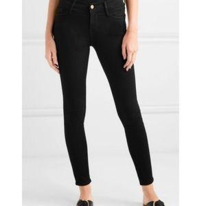Frame le skinny do Jeanne Black Midrise jeans